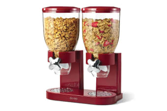 Zevro The Original Indispensable Cereal Dispenser Double - Red