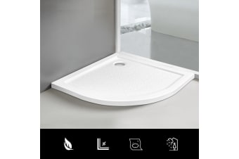Cefito Shower Base 800x800 Over Tray Acrylic ABS Fiberglass Curved 800mm Tile