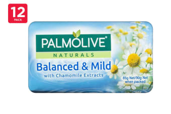 Palmolive 90G Soap Balanced & Mild With Chamomile Extracts (12 x 4 Pack)