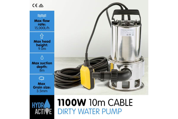 HydroActive Submersible Dirty Water Pump - 1100W