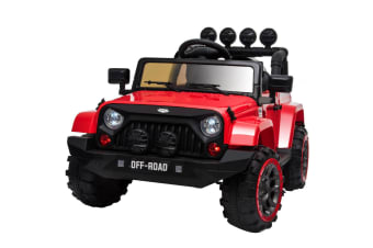 ROVO KIDS Electric Ride On 12V 4WD Jeep Inspired  Car Boys Toy Battery Red