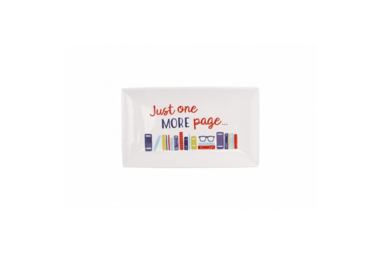 CGB Giftware Twenty Twenty One More Page Glasses Spectacles Dish Tray (White) (One Size)