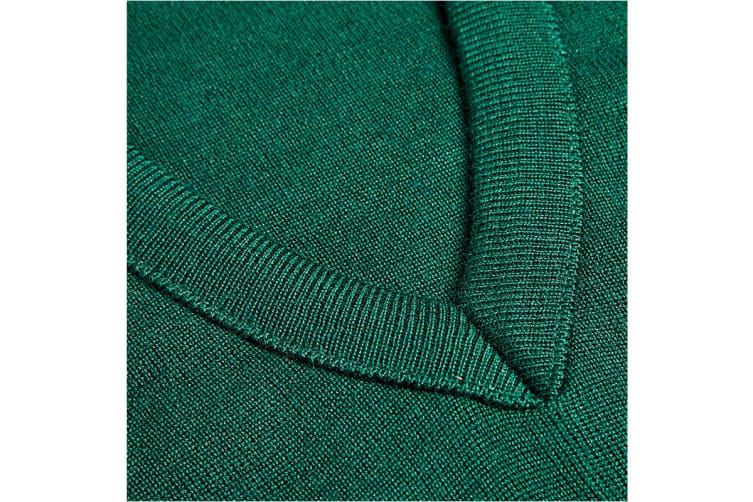 Hard Yakka Men's Wool/Acrylic V-Neck Jumper (Bottle Green, Size 5XL)