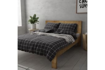 Dreamaker Cotton Jersey Quilt Cover Set Napa Queen Bed