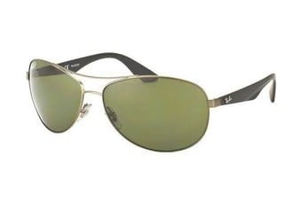 Ray-Ban RB3526 - Matte Gunmetal (Polarised Dark Green lens) Mens Sunglasses