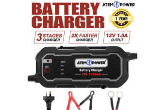 ATEM POWER Smart Battery Charger 1.5A 12V Automatic SLA AGM Car Truck Boat Motorcycle