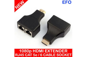 Hdmi Extender Dual Port Rj45 Cat5E / 6 Cable Connection 30M Distance