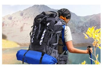 New Arrival 70L+10 Camping Hiking Backpack BLACK