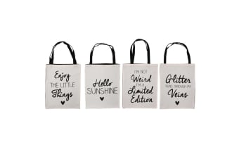 CGB Giftware 1 Absolutely Fabulous Canvas Shopping Bag - ASRTD (White)