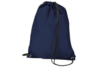 BagBase Budget Water Resistant Sports Gymsac Drawstring Bag (11 Litres) (Navy Blue) (One Size)