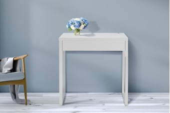 Ovela Study Desk with Drawer (White)