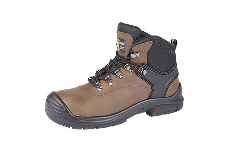 Grafters Mens Super Wide EEEE Fitting Safety Boots (Dark Brown) (9 UK)