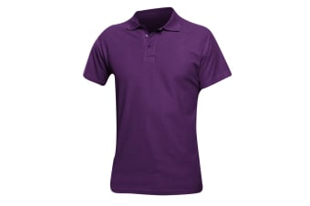 SOLS Mens Spring II Short Sleeve Heavyweight Polo Shirt (Dark Purple) (XL)