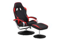 Ovela RX10 Deluxe Recliner Chair with Ottoman (Red, Racing Series)