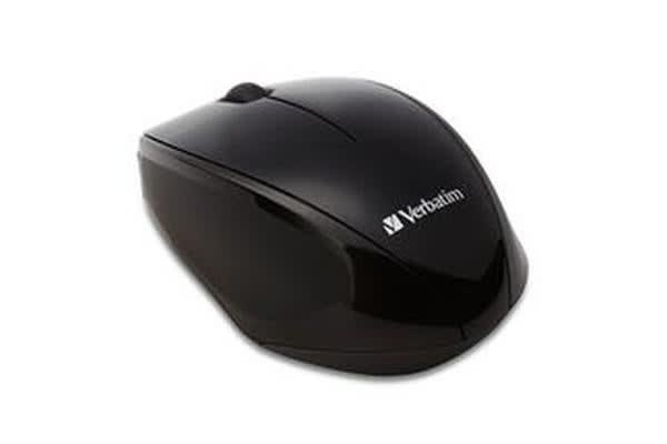 Verbatim MultiTrac Black Mouse Blue LED, Wireless Optical