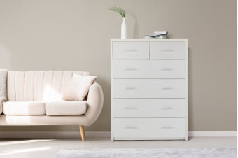 Ovela Chest of 6 Drawers - Oxford Collection (White)