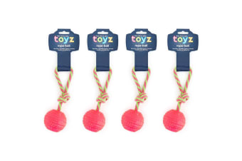 4PK Chew Rope Ball - Assorted Colour Randomly Selected