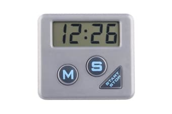 Chef Aid Kitchen Digital Timer (Silver) (One Size)