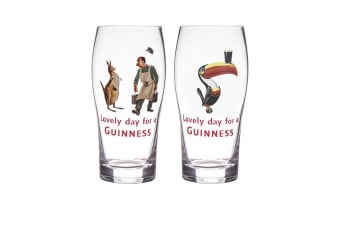 Guinness Gilroy Pint Glass 568ml Set of 2
