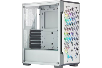 Corsair iCUE White 220T RGB Airflow ATX MidTower Gaming Case Tempered Glass