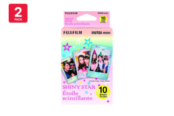 Fujifilm Instax Mini Shiny Star Film - 10 Sheets (2 Pack)