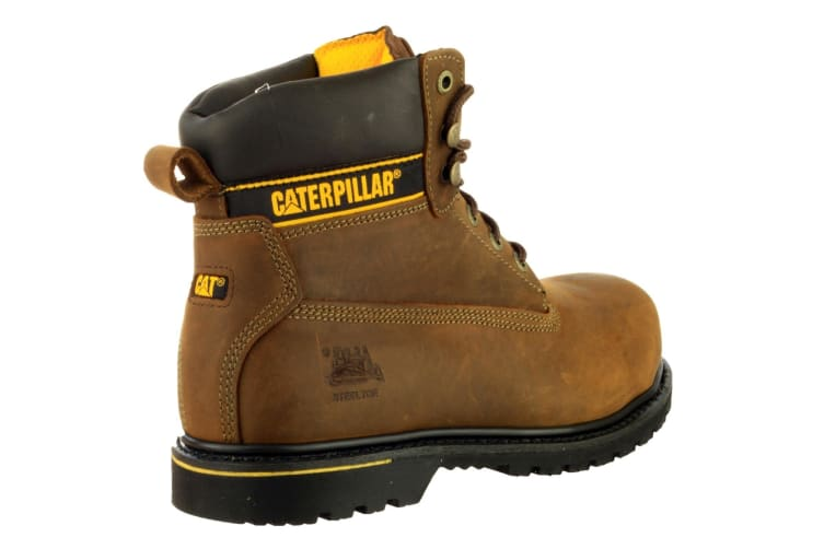 Caterpillar Holton S3 Safety Boot / Mens Boots / Boots Safety (Brown) (11 UK)