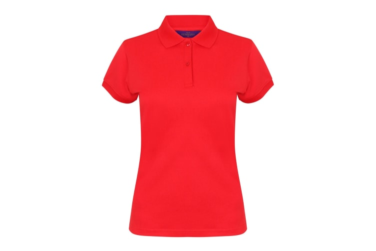 Henbury Womens/Ladies Coolplus® Fitted Polo Shirt (Red) (2XL)