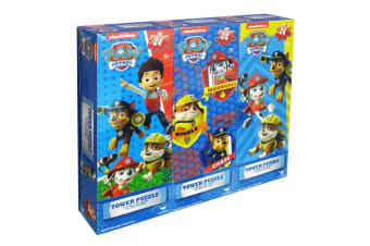 3PK 24pc Paw Patrol Tower Jigsaw Fun Puzzle Children/Kids 4y+ Educational Toys