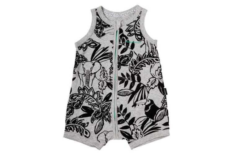 Bonds Romper Wondersuit (Grey, Size 00)