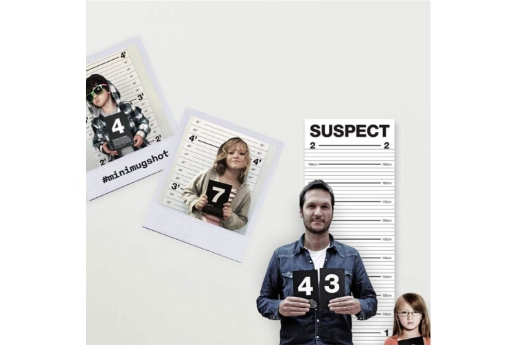 Funny Mugshot Height Chart & Numbered Cards