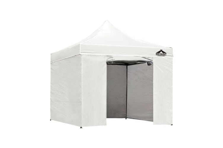 Pop Up Gazebo 3x3m Folding Wedding Marquee Tent Gazebos Shade White