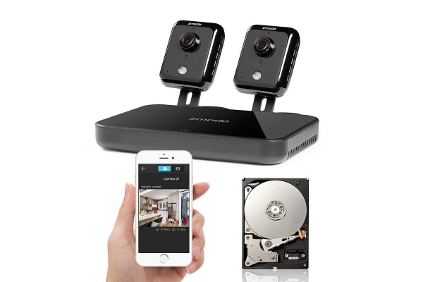 Zmodo 720p HD Smart Wireless Home Kit with 2 Indoor Wi-Fi Cameras and 500GB Hard Drive