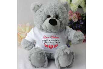 Personalised Baby Memorial Teddy Bear - Grey