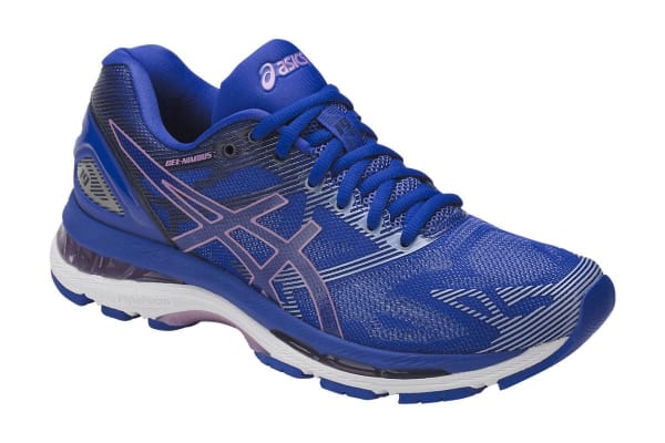 ASICS Women's Gel-Nimbus 19 Running Shoe (Blue Purple/Violet/Airy Blue, Size 6)