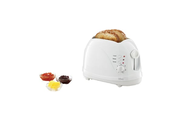 Tiffany 2 Slice Cool Touch Toaster - White (TA47)
