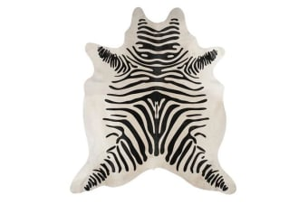 Exquisite Natural Cow Hide Zebra Print 170x180cm