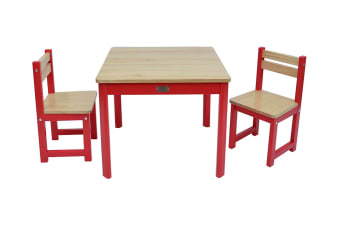 TikkTokk Envy Square Table & Chairs Set (Red)