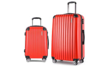 Set of 2 Hard Shell Travel Luggage with TSA Lock (Red)