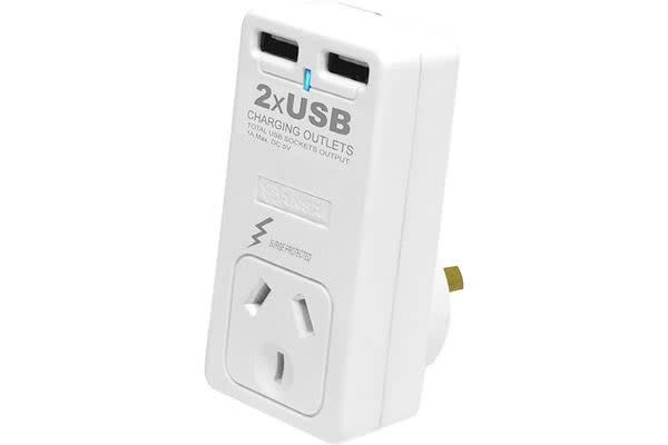 Sansai Surge Protector With 2 X Usb