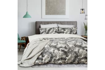 Ferntree Textured Cotton Quilt Cover Set Queen
