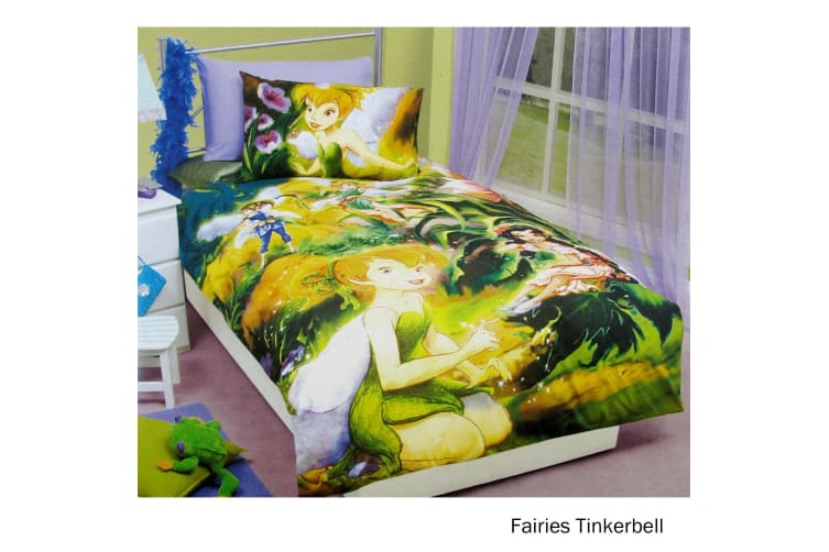 Fairies Tinkerbell Quilt Cover Set Single