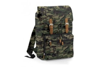 BagBase Vintage Laptop Backpack (Jungle Camo) (One Size)