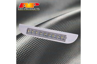 AP AUTO WHITE EXTERIOR LAMP OUTSIDE LIGHT AWNING ANNEX 12V VOLT CARAVAN 9 LED