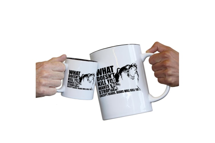123T Novelty Funny Giant 2 Litre Mugs - What Doesnt Kill You