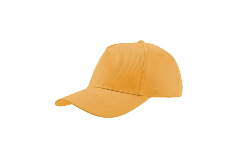 Atlantis Childrens/Kids Start 5 Cap 5 Panel (Pack of 2) (Yellow) (One Size)