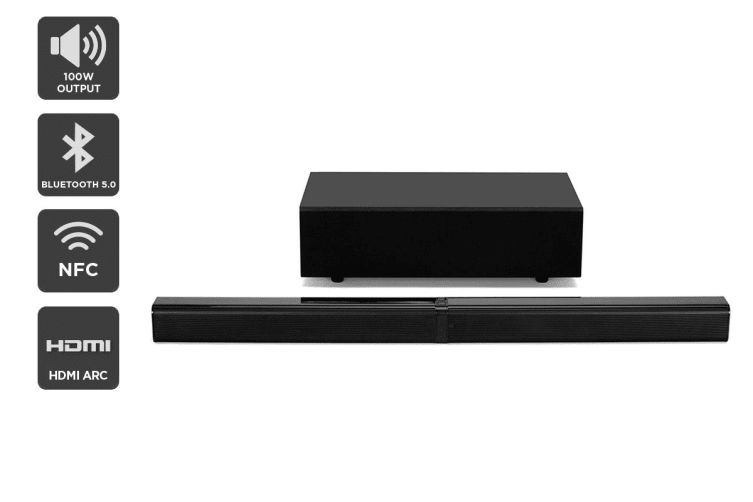Kogan 2.1CH 100W Detachable Soundbar with Wireless Subwoofer
