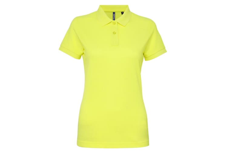 Asquith & Fox Womens/Ladies Short Sleeve Performance Blend Polo Shirt (Neon Yellow) (2XL)