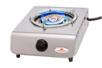 Auscrown Single LP Burner Wok Cooker with Hose, Regulator & Brass Caps