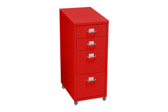 3/4/6 tiers Steel Orgainer Metal File Cabinet With Drawers Office Furniture AU  -  4 DRAWERS-RED