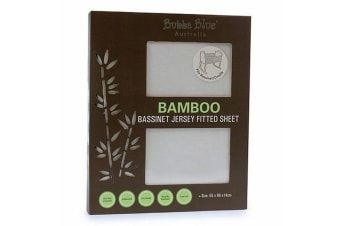 Bubba Blue White Bamboo Jersey Basinet Fitted Sheet